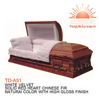 Buy TD-A51 solid wood casket with casket lings from alibaba China