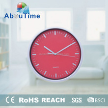 Colorful Round Plastic Simple Kitchen Decoration Wall Clock