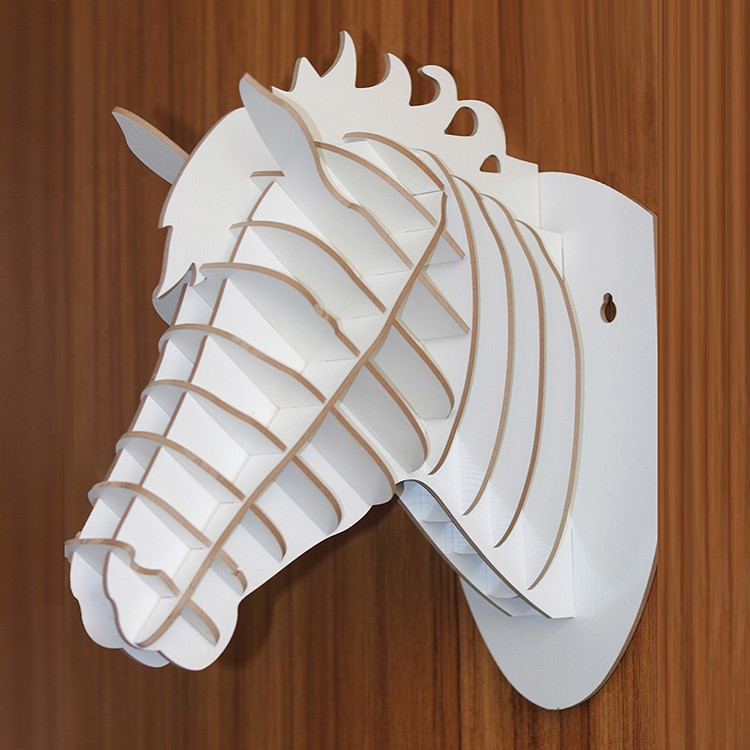 DIY 3d wall hanging decorative wood carving horse head