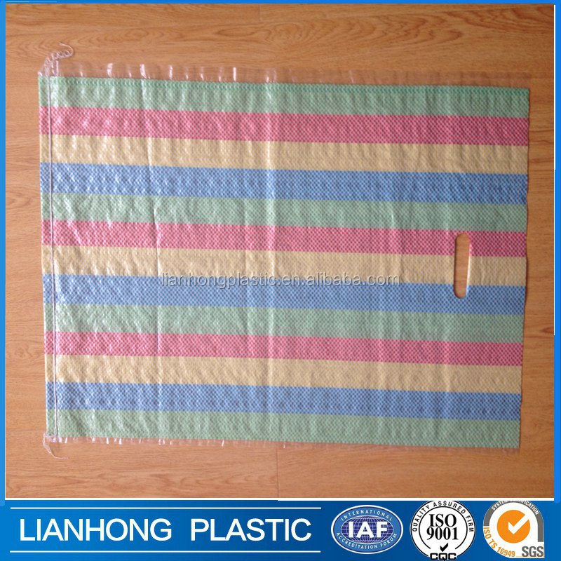 Various color strip, strong durable and eco-friendly plastic shopping bag, shopping bag plastic bag major used in Africa market