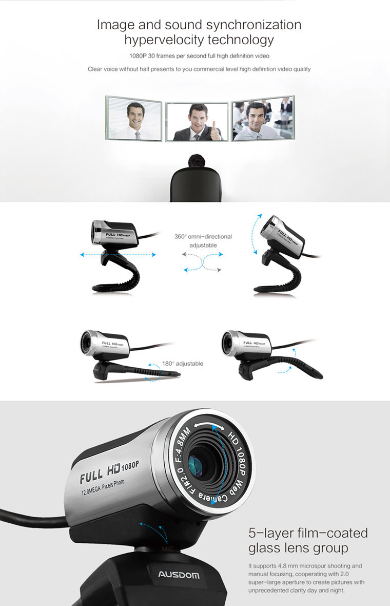 AW615 Factory wholesale USB2.0 webcam for computer
