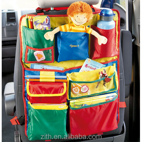 Hot sales high quality car back seat organizer for kids' toys,car pocket organizer