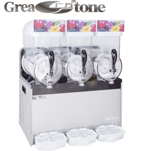 New design 3 bowls frozen ice slush machine, slush making machine for hotels or restaurants