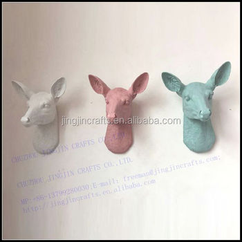 unique classic interior home decoration resin animal head