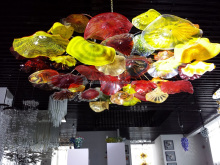 Hot Selling Hand Blown Art Flower Chihuly Style Murano Glass Chandelier