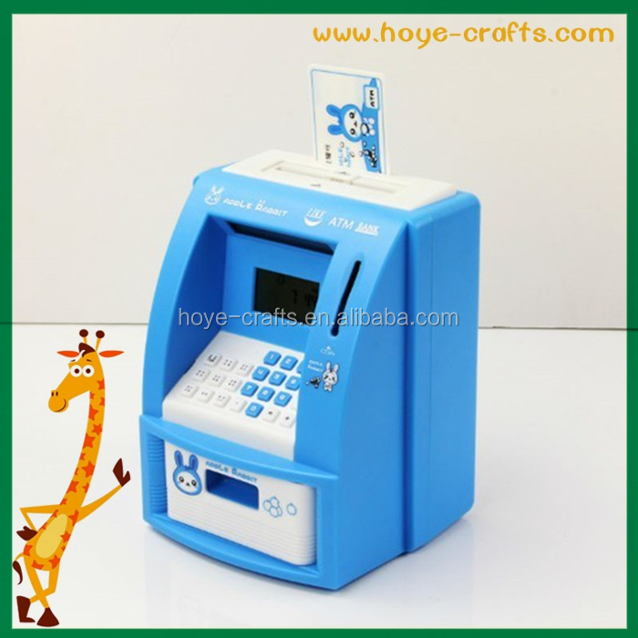 electric enter password saving box coded lock saving box atm shaped