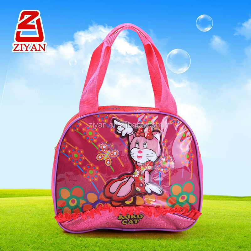 Cute Cat Picture Small Handbag For Kids