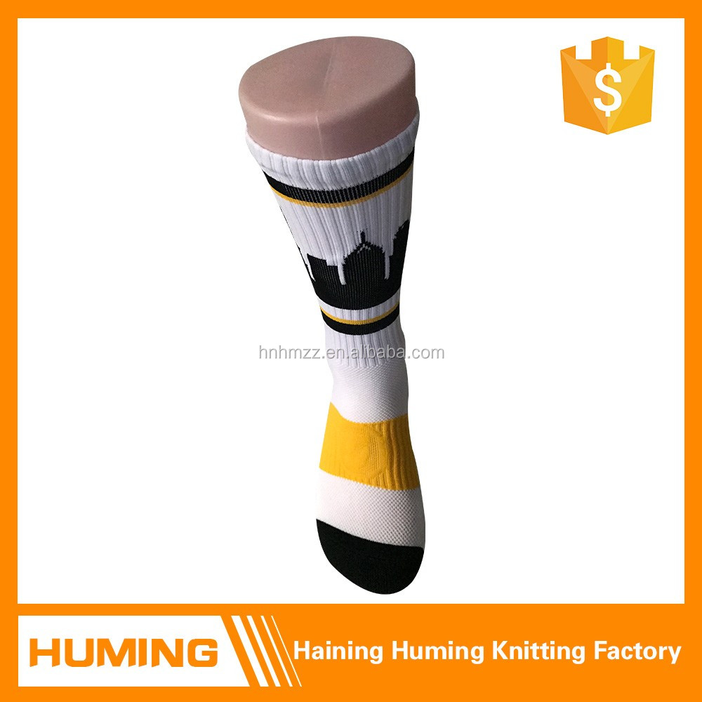 All season cotton thick white compression socks