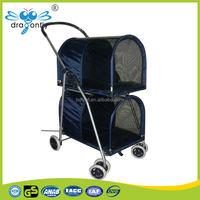 2016 China factory direct sale eco-friendly double pet stroller