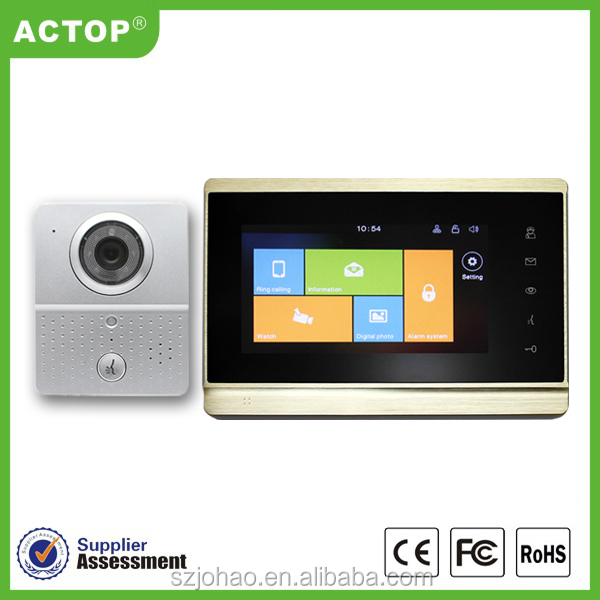 Home security Manufacturer ACTOP 7inch capacitive touch sceen video door phone for villa