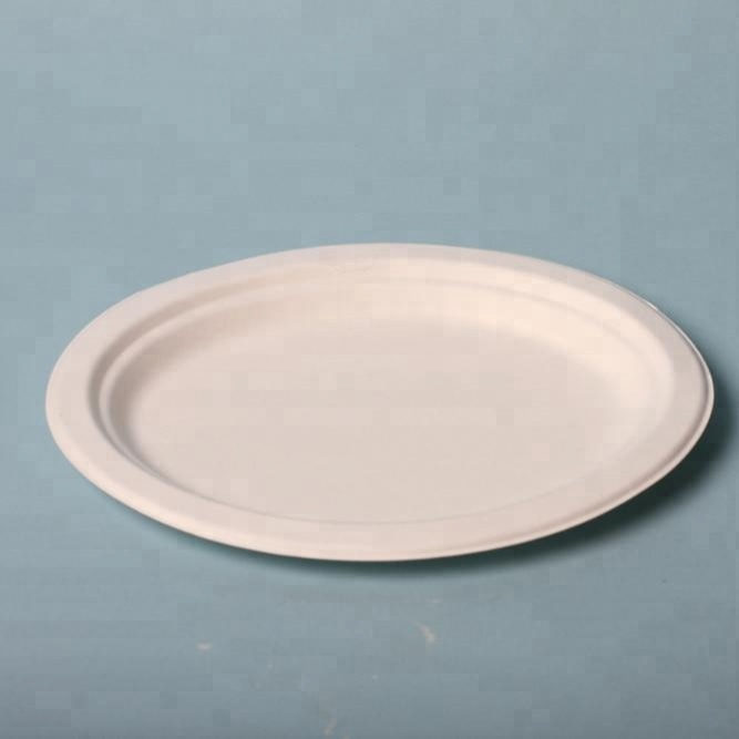 100% compostable natural biodegradable wheatstraw paper plates