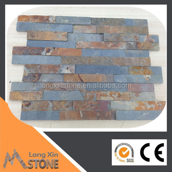 Hebei multicolor slate natural stone wall siding