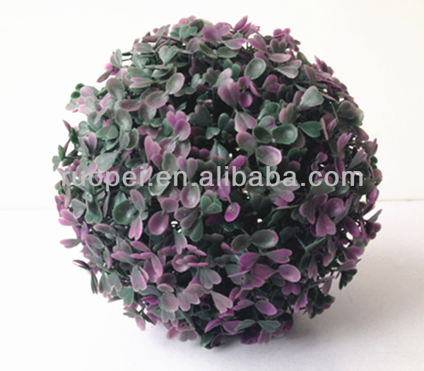 Decorative plastic artificial hanging grass ball in different sizes from Yiwu market