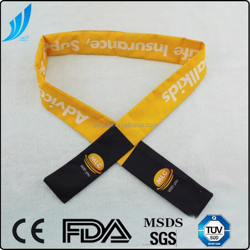2015 Hot Sell Gel Cooling Neck Ties,Customized Cooling Wrap
