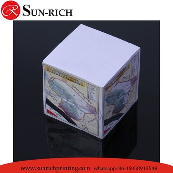 Personalized sticky note cube Adhesive Sticky Note Memo Cube 9*9*9cm
