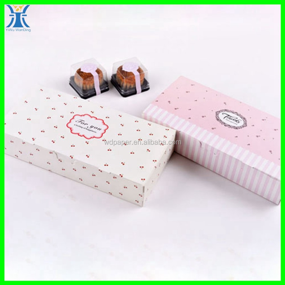 Yiwu 2015 New Arrived decorative made wholesale recycle elegant bakery paper box