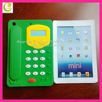 New Telephone shape Cute Silicon case for iPad Mini 7.9 inchs,silicone waterproof case fro ipad in DongGuan