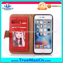 Card Slots Purse Wallet Case for iPhone 7 6 6S Plus 5S 5 S SE Cover Leather Flip Stand Phone Bags with Photo Frame