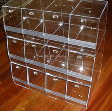 Multi-layer plexiglass storage bin