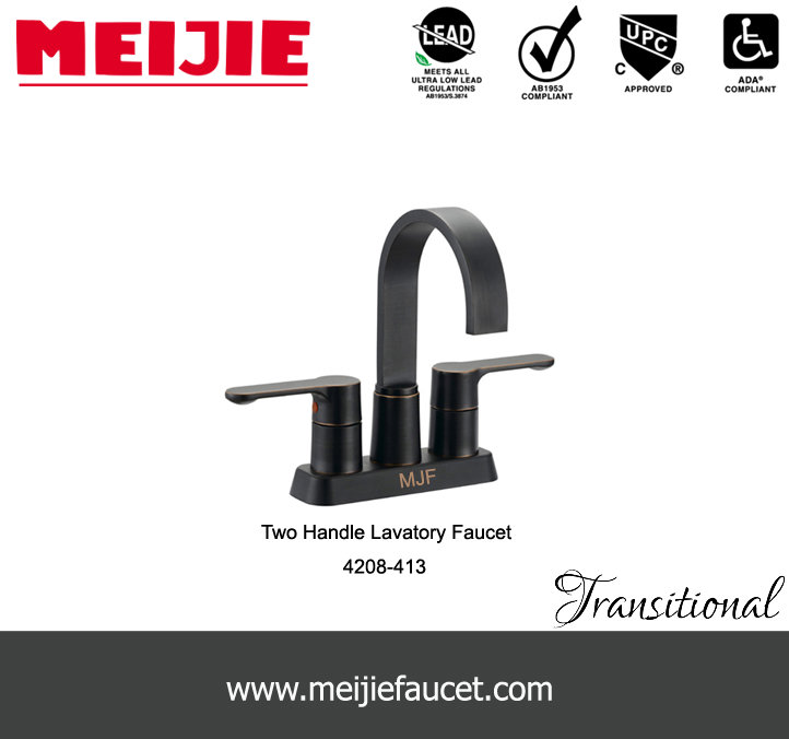 UPC Two handles basin faucet with ORB colour