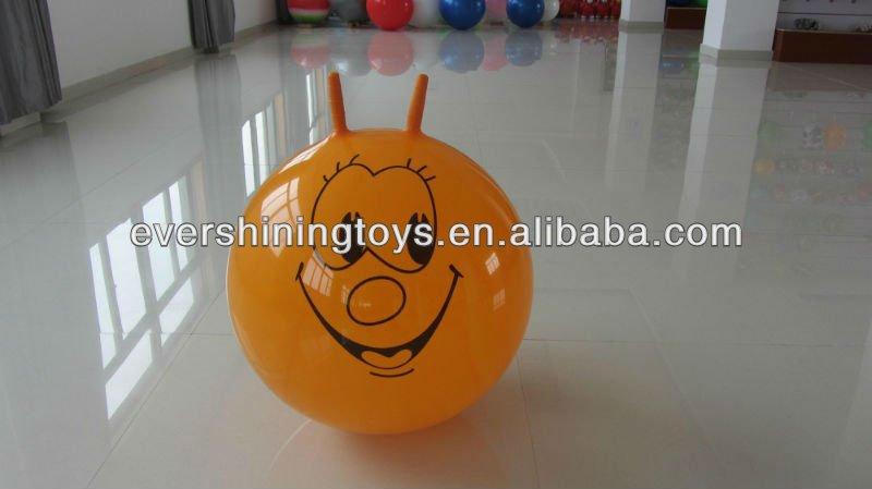 pvc sheep-horn handle ball/bouncing ball/hopper balls
