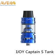 New Ecig Delrin Widebore 510 Drip Tip Tank IJOY Captain S Tank Compatible With 18650 Battery Vape Box Mod