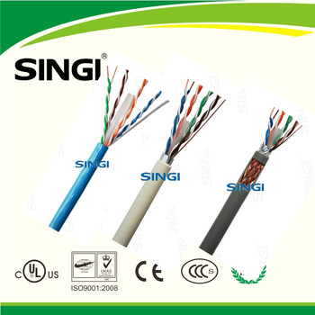 305m/roll UL ROHS Fluke Test 4 Pairs Copper Conductor UTP FTP SFTP Cat6 Network Cable quality good Lan Cable
