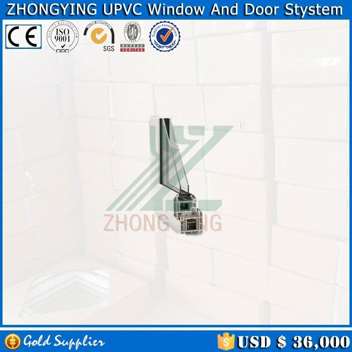 Double glazing design office swing half doors