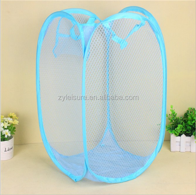foldable laundry basket pop up dirty clothes linen laundry folding mesh storage basket hamper collapsible basket kids pop up bin