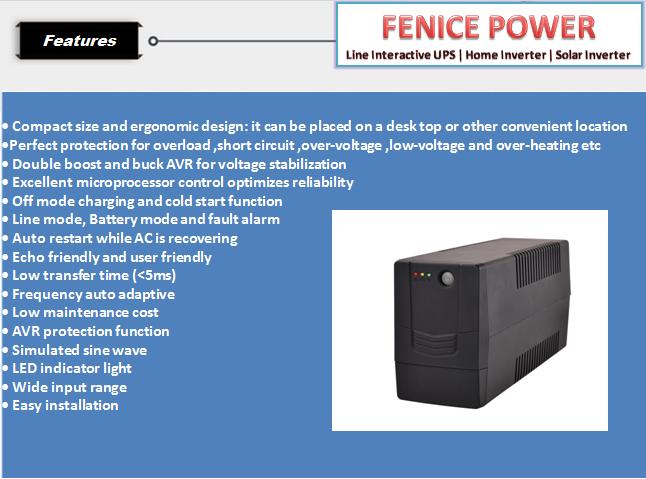 customized 9v 5v 2a 5 volt 220v dc mini UPS 12v for PC computer