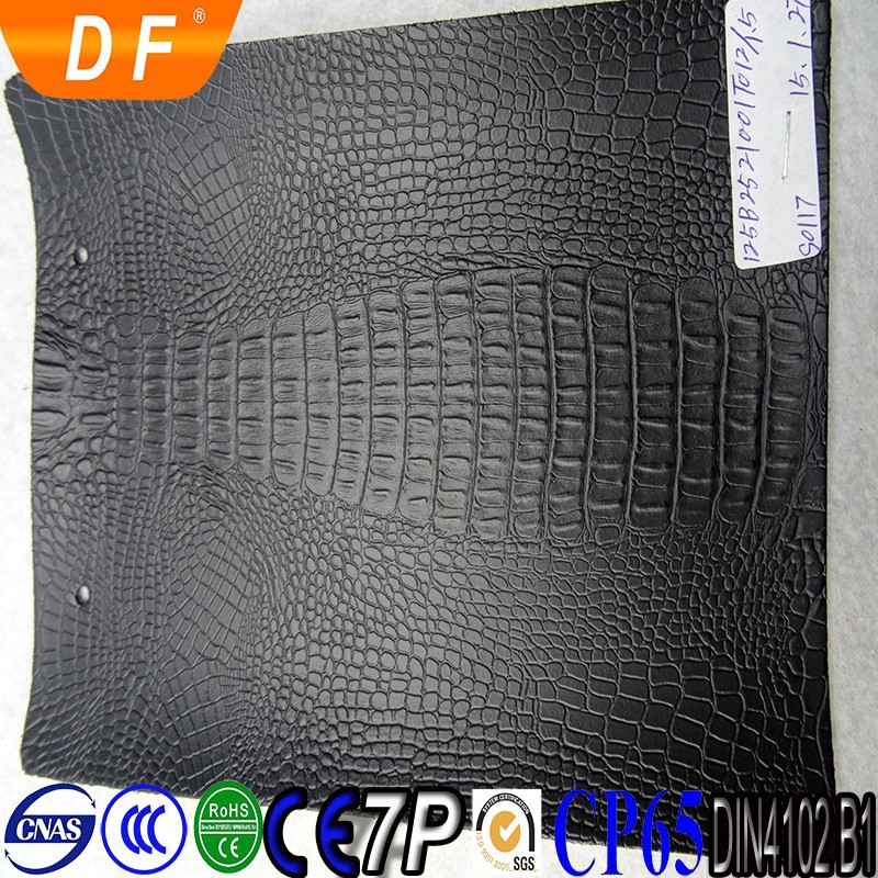 Pu Leather 2015 Fashion Crocodile Skin Material For bag