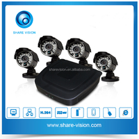 4CH DVR HDMI 700TVL Surveillance CCTV Video Home Security Camera System