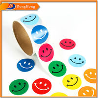 Smiley Face Sticker,Happy Face Sticker,Double Faced Sticker