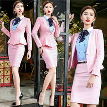 New Hot Women Work Wear Jacket Formal Lady Casual Business Office Skirt Suit