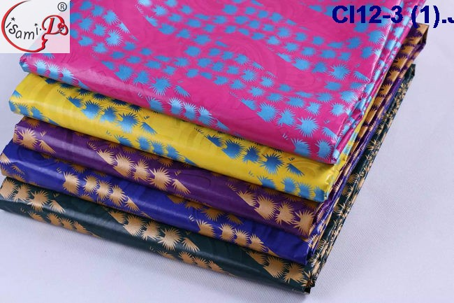 CL12-3 The newest design of the bazin rich with golden prints different design styles and different patterns on sale
