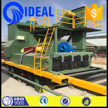 automatic steel plate shot blasting machine and painting line