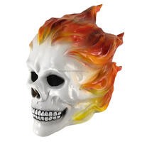 Adult Size Full Overhead Latex Skull Ghost Rider Mask