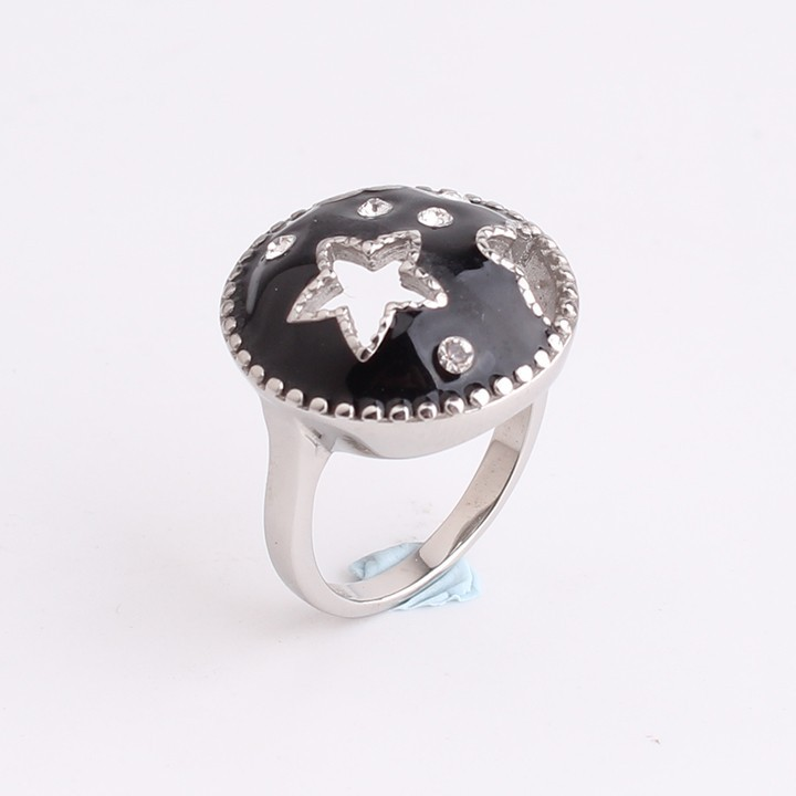 Black mushroom star 316L Stainless Steel finger rings for men women jewelry wholesale