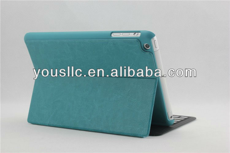 Ultra-thin Bluetooth Keyboard Leather Mobile Phone Case Cover For Ipad MiNi