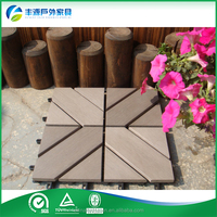 waterproof uv resistant plastic wood composite decking board wpc