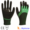 13G Polyester+Spandex Shell Nitrile Coated Safety Work Gloves neoprene coated gloves