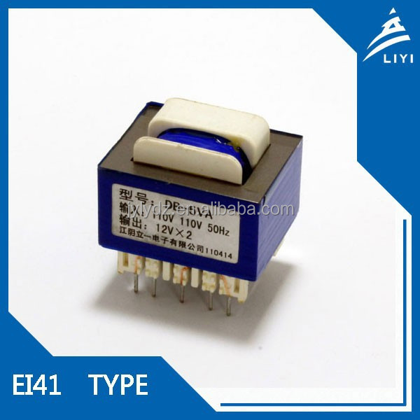 single phase isolation 12v to 24v power transformer pcb mount from China