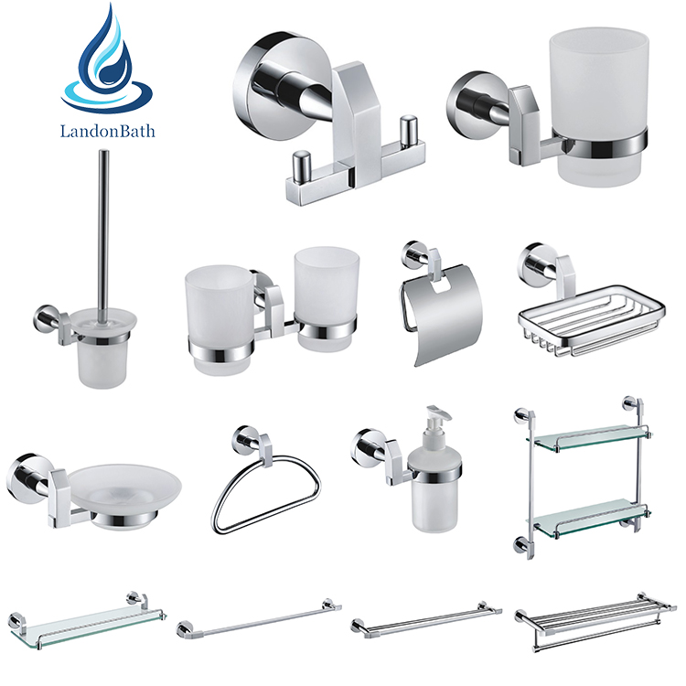 High quality SUS304 stainless steel bathroom accessories sets bathroom hardware sets