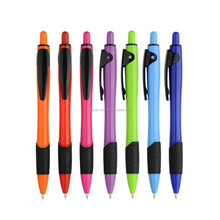 Hot selling plastic rubber grip logo pen in cheap price