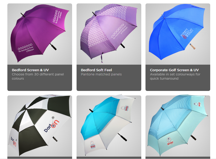 Aluminum shaft fiberglass ribs multi color golf umbrella