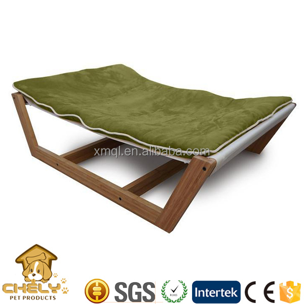 Handmade luxury bamboo wooden pet dog beds,hammock