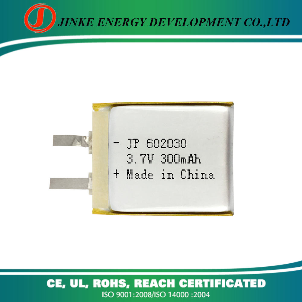 Aw thin high discharge rate lipo battery rechargeable 602030 lithium-ion polymer 3.7v 300mah battery for wireless mouse