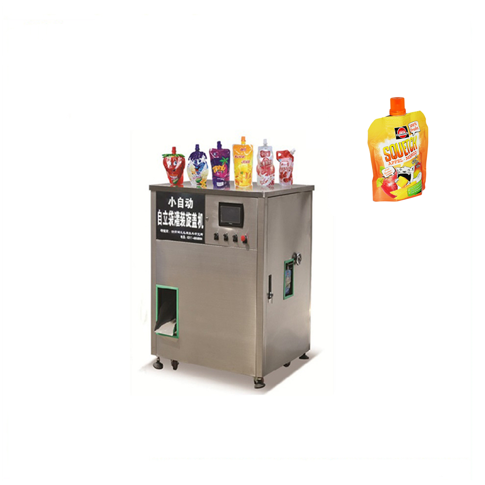Sachet filling machine cap plastic drink pouch for beverage industry