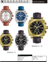 New thin high quality business watch for men with leather band ,alloy material brand watches