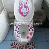 New soft disposable Silicone Microfiber Cloth Toilet Seat Cover